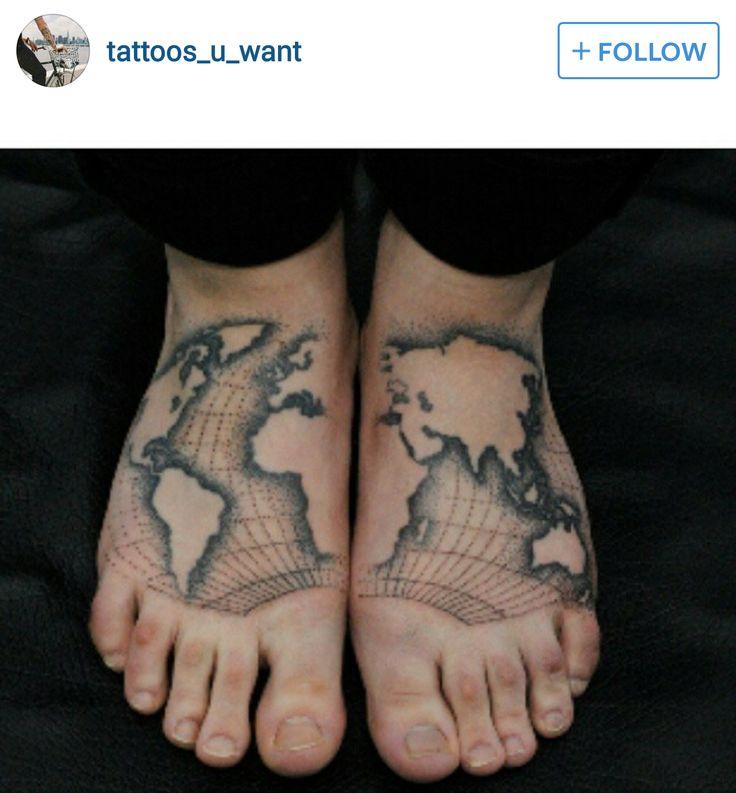 142 best Globe & World Tattoos images on Pinterest ...