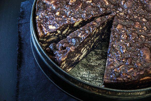Chocolate fudge slice