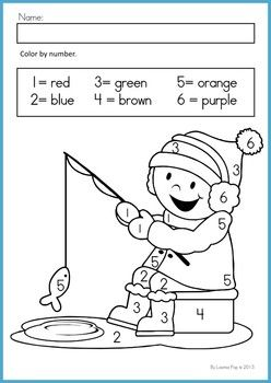 winter coloring pages math preschool-#4