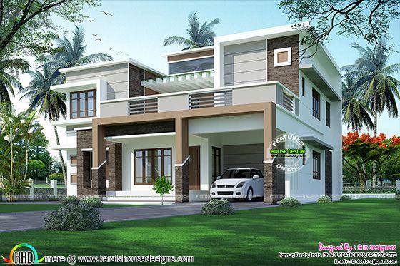Sober color box model house