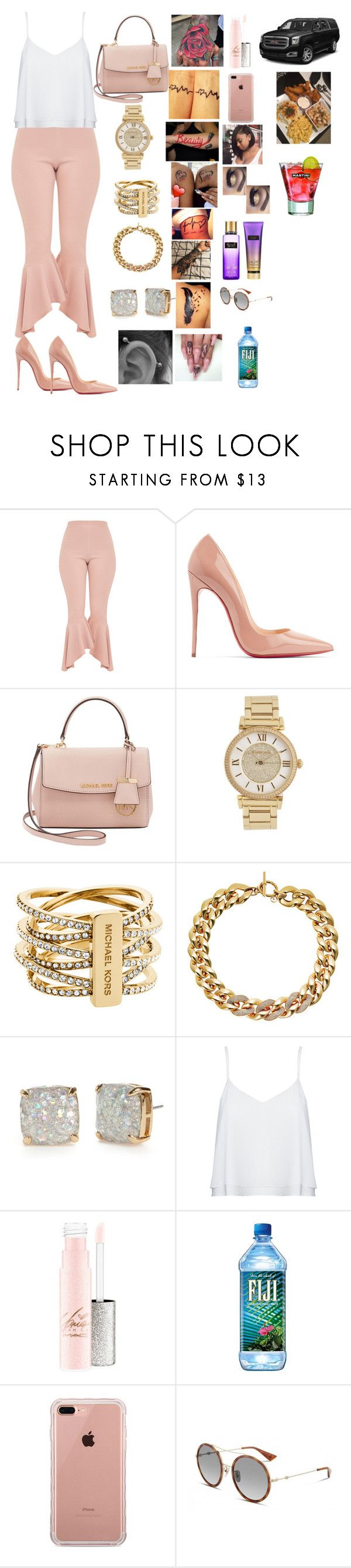 """""""Lunch with my two baby nieces😍😩"""" by manija-jones on Polyvore featuring Christian Louboutin, Michael Kors, Kate Spade, Alice + Olivia, Belkin, Gucci and Victoria's Secret"""
