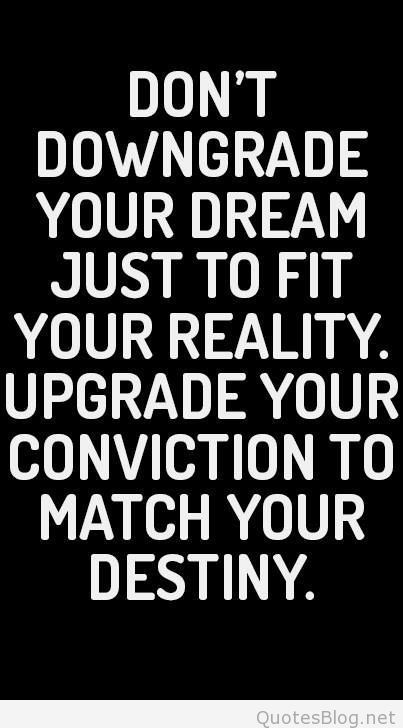 upgrade your conviction
