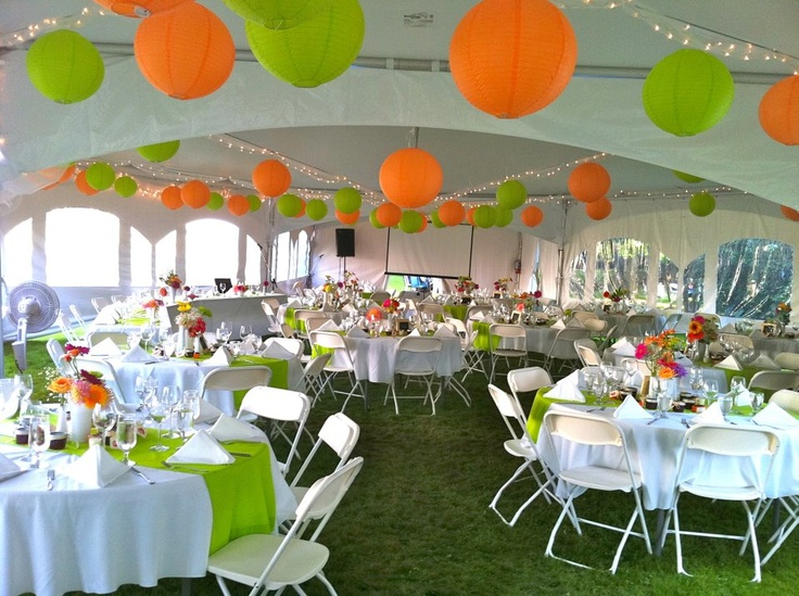 Tent decor wedding ideas pinterest yellow red and for Outdoor party tent decorating ideas