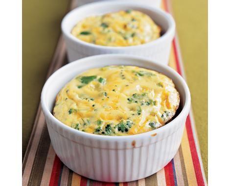 Crustless Broccoli-Cheddar Quiches Recipe | Food Recipes - Yahoo Shine