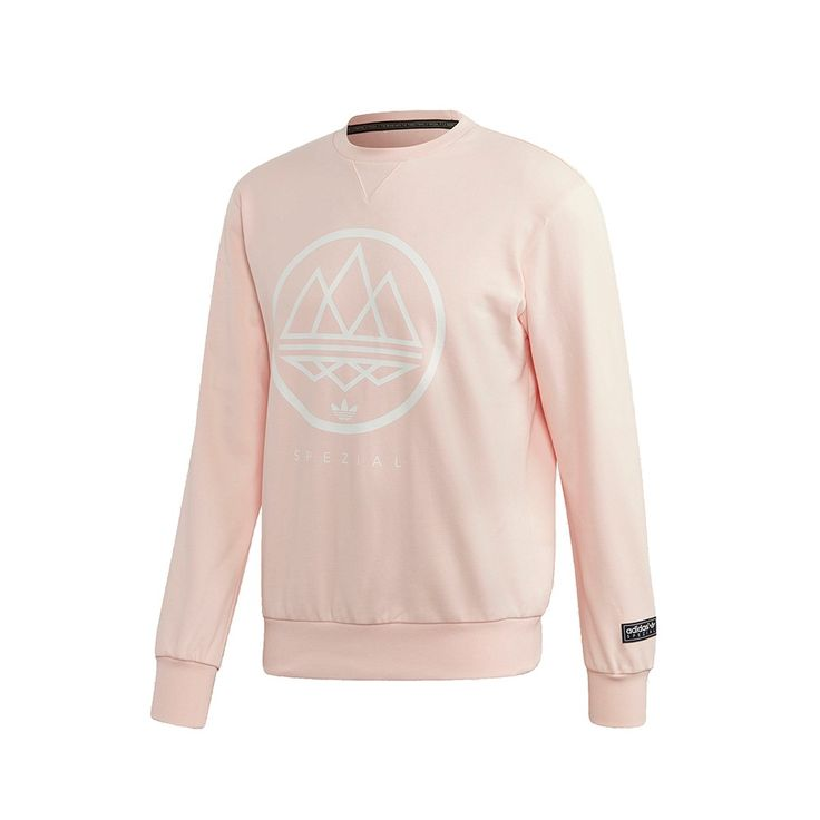 adidas Spezial Mod Trefoil Crew Sweatshirt (rose / white) - Free Shipping starts at 75€ - thegoodwillout.com