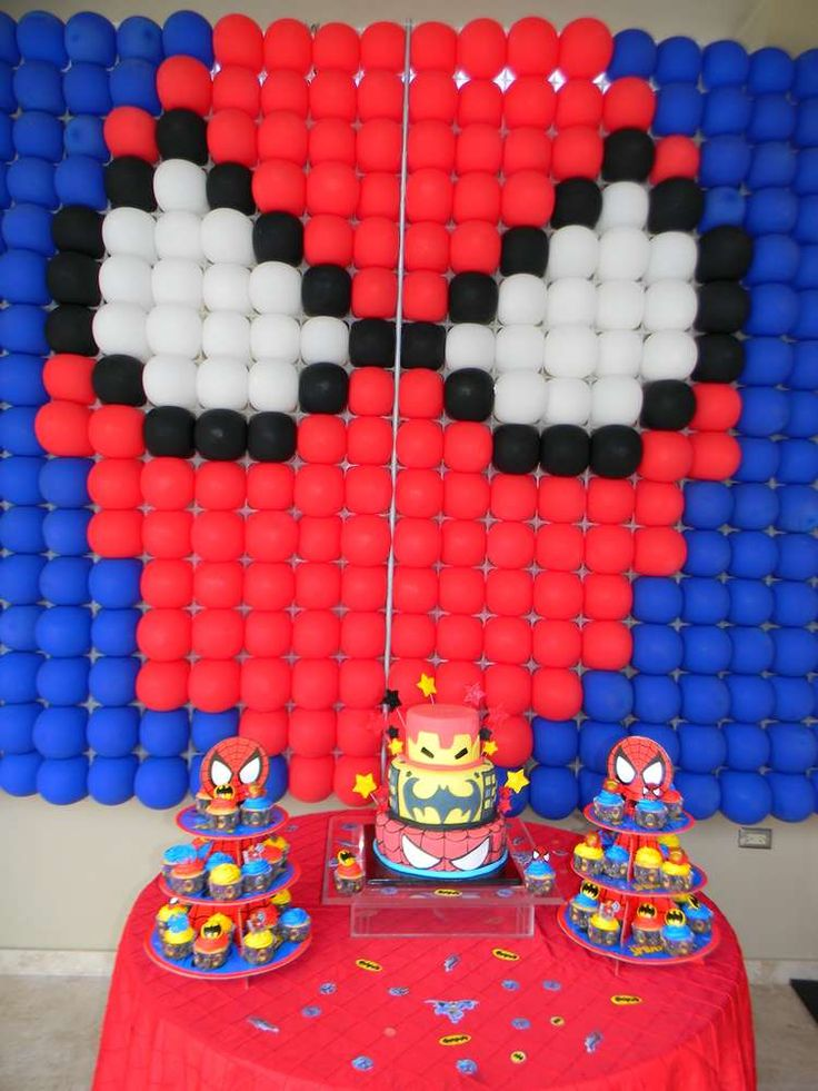 Batman, Spiderman and Ironman Birthday (Superheroes Party) Birthday Party Ideas | Photo 11 of 26 | Catch My Party