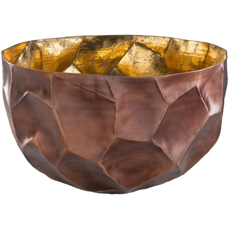 Caz Brown 16.5 in. Decorative Bowl, Brown Large