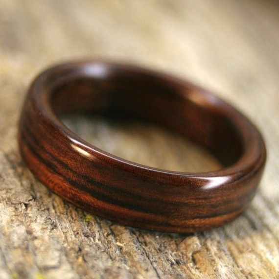 Indian Rosewood Bentwood Ring - Handcrafted Wooden Ring: 6mm $80