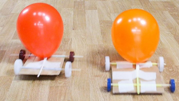How to make a Jet Toy Car for children in order to show Newton's Third Law of movement. You only need a rectangular piece of cardboard, drinking straws, two ...