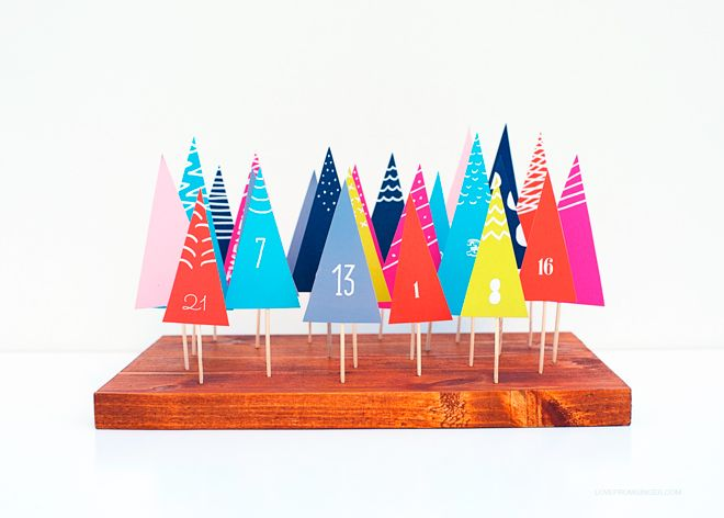 DIY Advent Calendar Forest With Free Printable