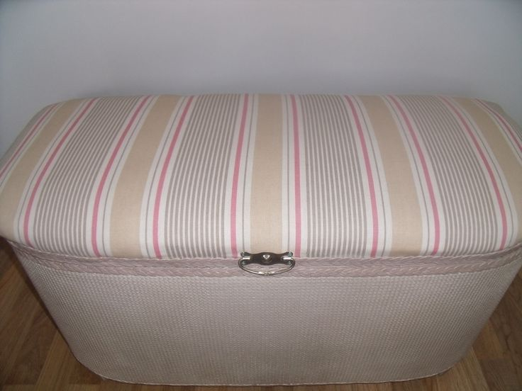 Lloyd Loom Ottoman -complete Makeover - Skip To Glory Colchester Essex