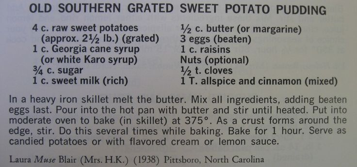 Old Southern Grated Sweet Potato Pudding-Peace Cookbook