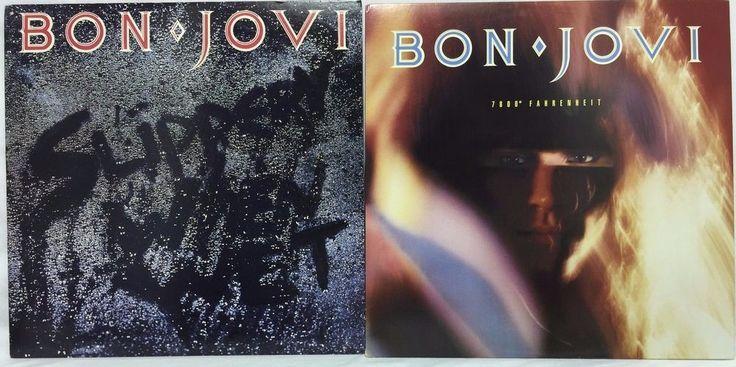 Bon Jovi 7800 Fahrenheit Slippery When Wet Lp Vinyl Record Lot Of 2 Vinyl Records Bon Jovi Lp Vinyl