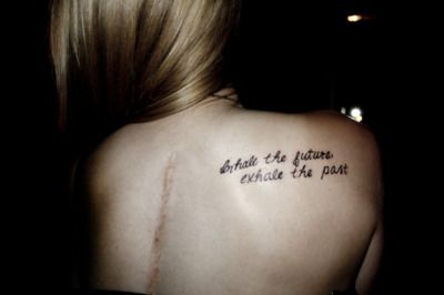 Inhale the future, exhale the past.  I like the saying