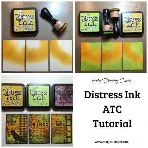 Distress Ink ATC Tutorial (Marjie Kemper)