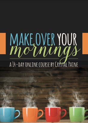 Hands-down, the best advice I've read for jump-starting your day & increasing productivity. Loved the Make Over Your Mornings course-- Crystal is so inspiring & full of practical tips on creating schedules that work and prioritizing your day-to-day tasks to get. it. done.