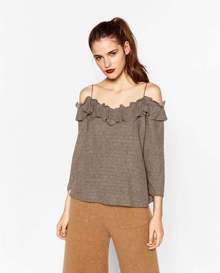 ZARA - MUJER - BLUSA HOMBROS CUT OUT