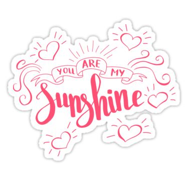 You are my sunshine. Love quote for Valentine`s day. Black background. by Maria-So