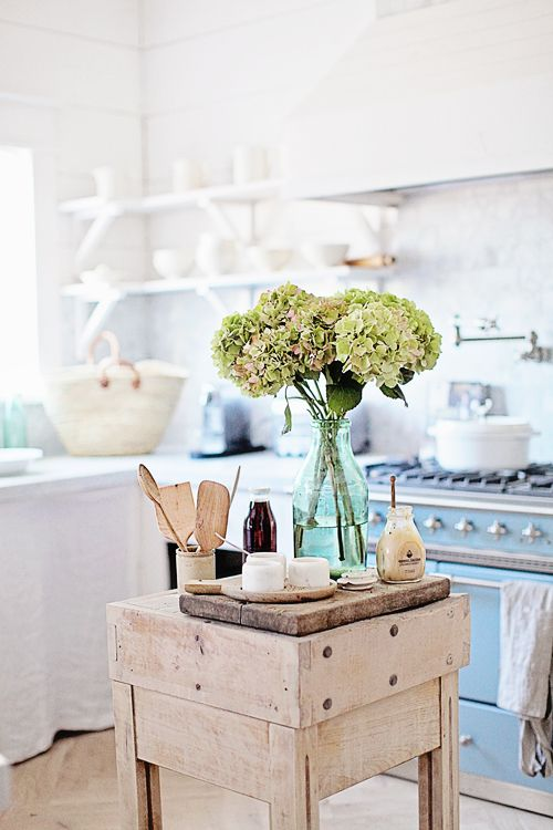 Breathtaking light filled French farmhouse kitchen of Maria of Dreamy Whites - found on Hello Lovely Studio
