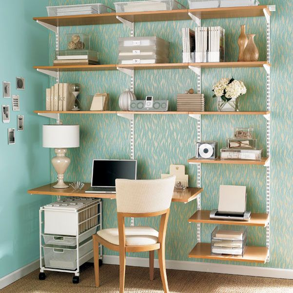 built in desk - such simple materials but somehow this looks cute (for a kids room)