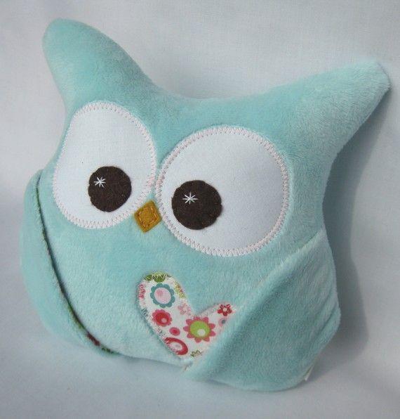 minky soft plush owl aqua minky riley blake fabric by aprilfoss