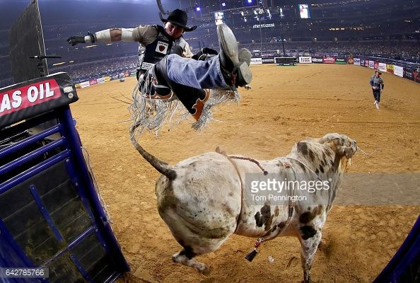 News Photo : Marco Antonio Eguchi of Brazil gets bucked off of...