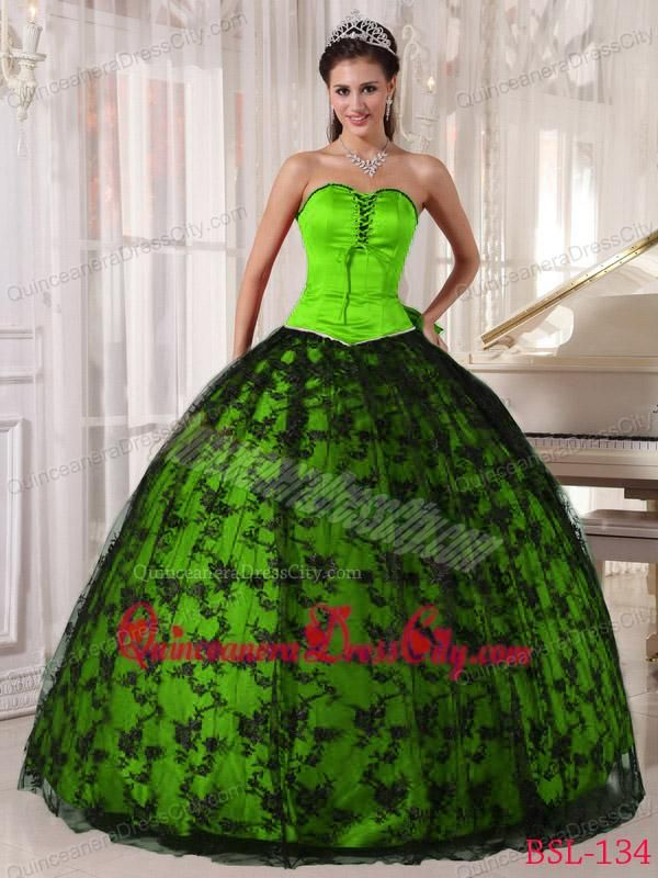 08920d6ce54 neon green and black quince dresses