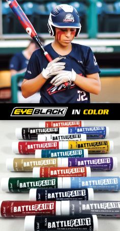 Rep your team colors with BattlePaint (eye black in color)!  Worn by Sierra Romero.  Get yours here: https://www.eyeblack.com/battle-paint.html/