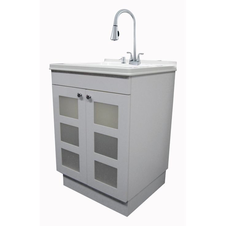 Small Utility Sink with Cabinet - Interior Paint Color ...