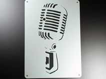 A4 Schablone Mikrofon Retro Microphone BE410