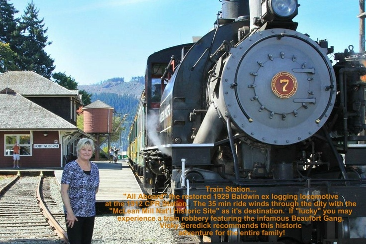 Vicky Seredick @ our local Steam Train Station...