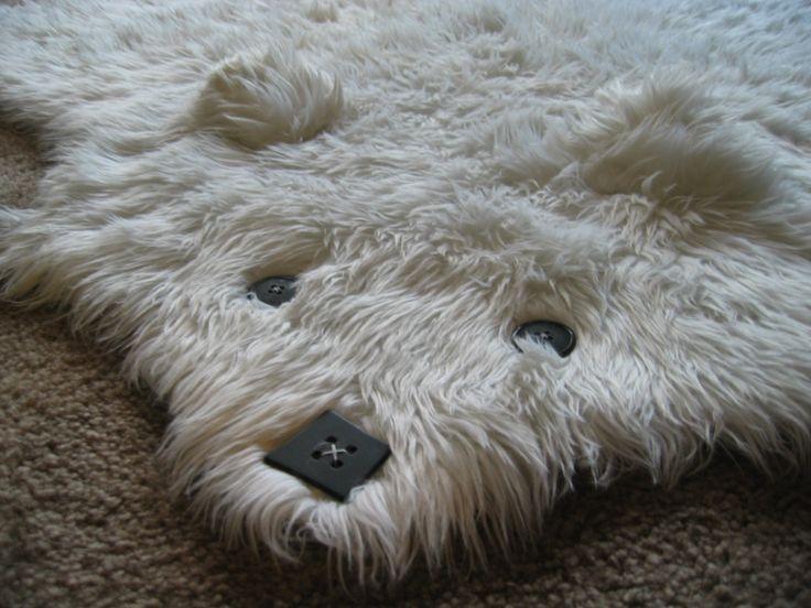 Beary   The Faux Shaggy Long Pile Bearskin Rug