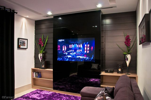 Meer dan 1000 idee n over tv au mur op pinterest salon - Meuble tv fixe au mur ...