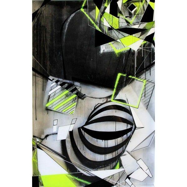Swai Technique mixte sur 3 feuilles de plexiglass superposées Format : 150 x 100 cm Encadré dans un caisson 3D noir