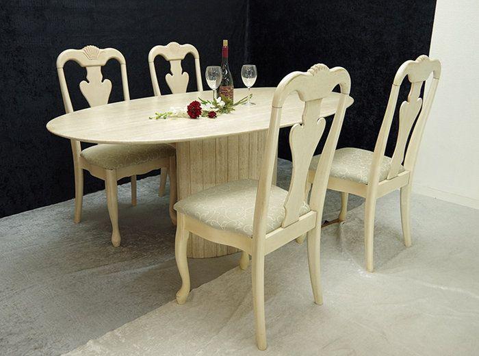 大理石テーブル5点セット