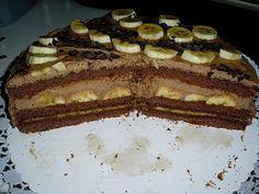 Geheime Rezepte: Einfache Schoko - Bananen - Torte (schnell gemacht und super lecker, die Schokosahne muss 1 Nacht ruhen)
