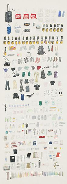 Elise Engler, Everything I Took to China, 1999