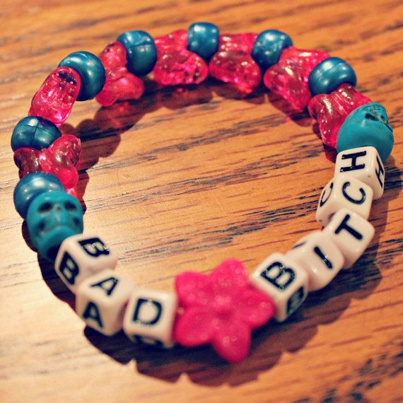 Bad Bitch Kandi Bracelet by KandiKweens on Etsy