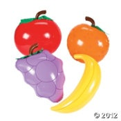 inflatable fruit...decorations? snack room?