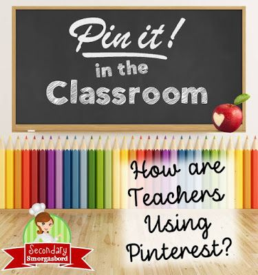 Pinterest: A Professional Development Goldmine - PLUS 15 middle school and secondary blog hop contributors from multiple content areas share how they use Pinterest in their classrooms. (Check out all the blogs at the bottom of the post!)