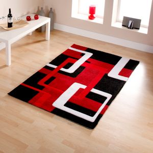 34 Best Red Black And White Area Rugs Images On Pinterest