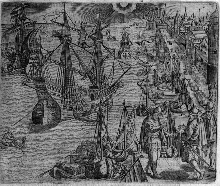 File:Theodore de Bry harbour scene 1593.png