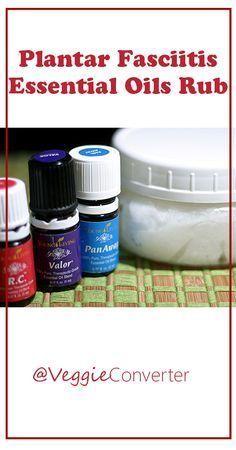 Plantar Fasciitis Essential Oils Rub | @VeggieConverter