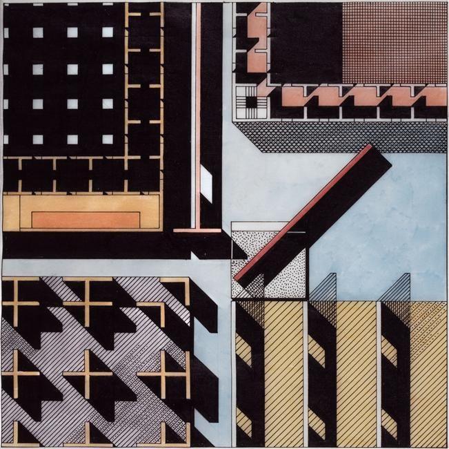 franco purini, urban tissue, 1978 (via Réunion des musées nationaux)
