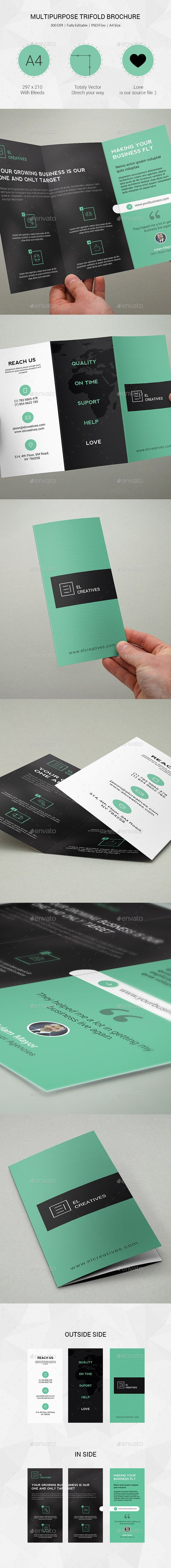 PSD Creative Multipurpose Trifold Brochure - 08 Template • Only available here ➝ http://graphicriver.net/item/creative-multipurpose-trifold-brochure-08/11809224?ref=pxcr