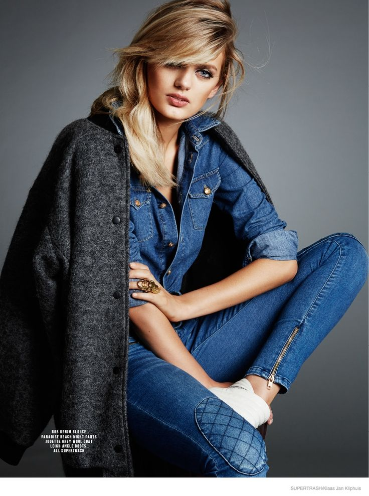Bregje Heinen is Rock & Roll Glam in Supertrash Fall 2014 Ads by Klaas Jan Kliphuis