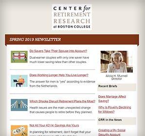 Center For Retirement Research Boston College Research