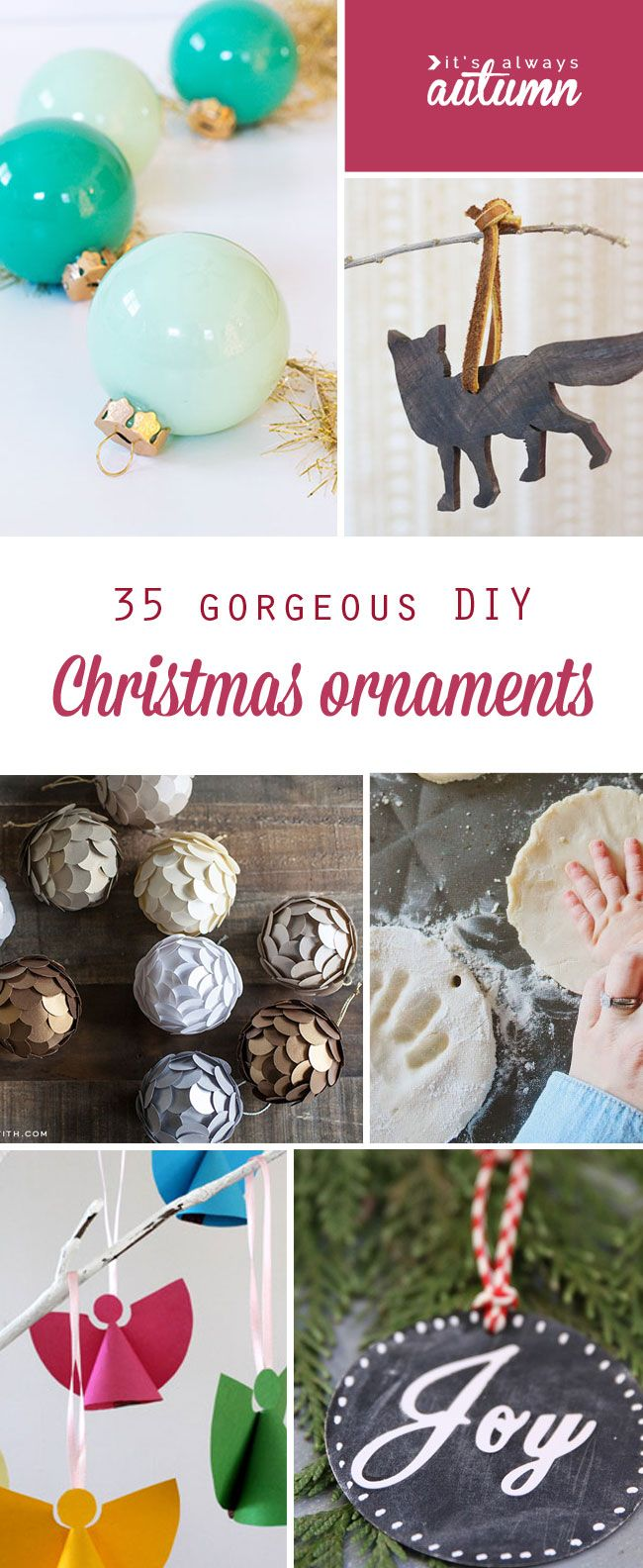 Margarita ornament - 35 Beautiful Diy Handmade Christmas Ornaments