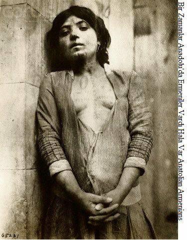 An Armenian teenage girl who was forced into prostitution in 1915 in Mardin (Turkey)