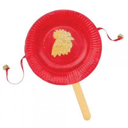 Year of the Rooster Festive Hand Drum - Welcome in the Chinese New Year with a festive hand drum. Chinese New Year is an important Chinese festival which welcomes the new lunisolar year.